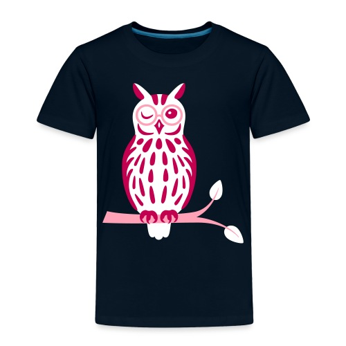Winky Owl - Toddler Premium T-Shirt