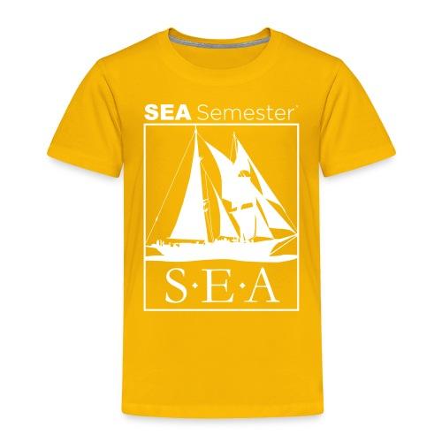 SEA_logo_WHITE_eps - Toddler Premium T-Shirt