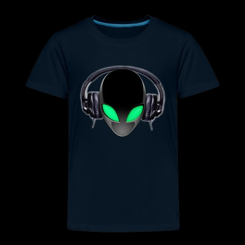 Alien Music Lover DJ (Simplified Fit All Design) - Toddler Premium T-Shirt