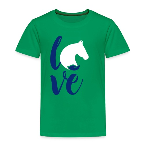 love logo sbf dblue white - Toddler Premium T-Shirt