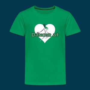 Dancer At Heart (White Heart) - Toddler Premium T-Shirt