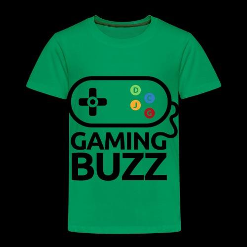 Gaming Buzz Logo - Black - Toddler Premium T-Shirt
