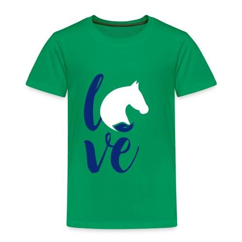 love logo sbf dblue white - Toddler Premium T-Shirt