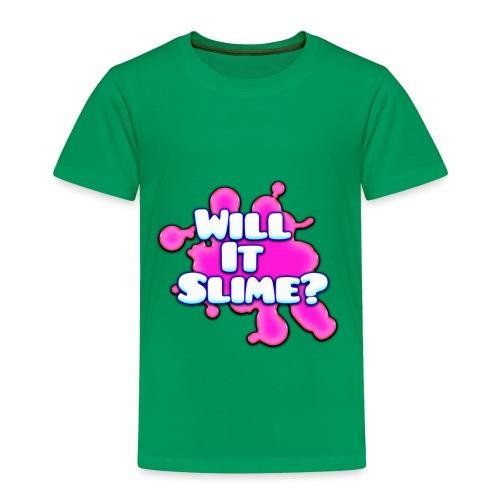 Pink Will It Slime Logo - Toddler Premium T-Shirt