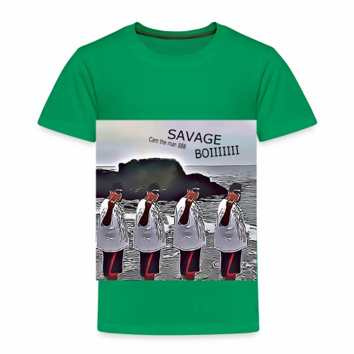 The Savage Boi Cam on the Beach - Toddler Premium T-Shirt
