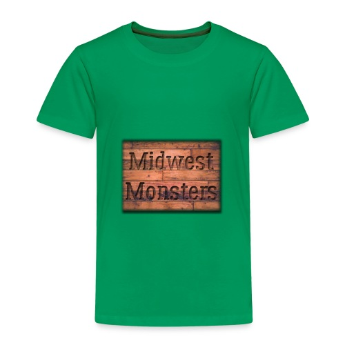 Midwest Monsters Wood Logo - Toddler Premium T-Shirt