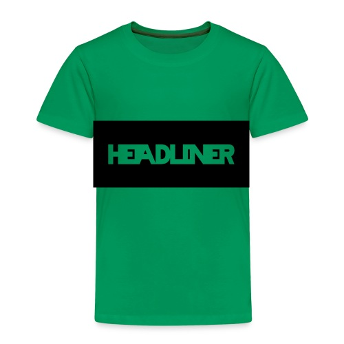 HEADLINER LOGO TRANSPARENT ON BLACK - Toddler Premium T-Shirt