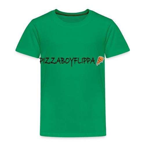 PizzaBoyFlippa - Black - Toddler Premium T-Shirt