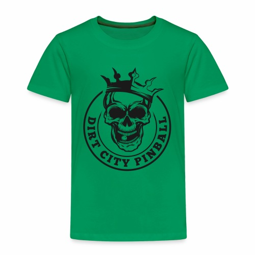 Dirt City Pinball Black/White Logo - Toddler Premium T-Shirt