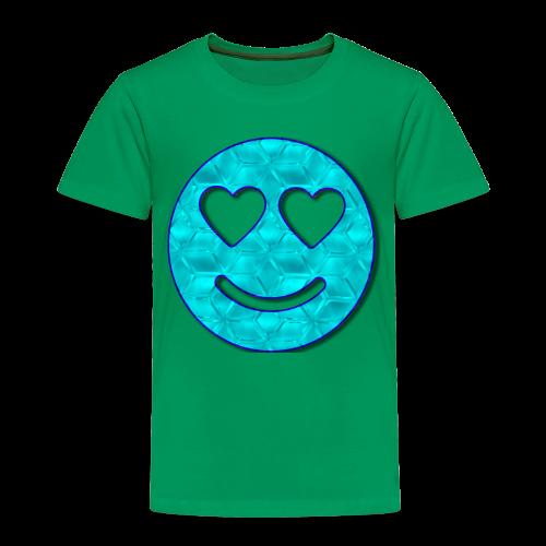 Smiley Love-Blue - Toddler Premium T-Shirt