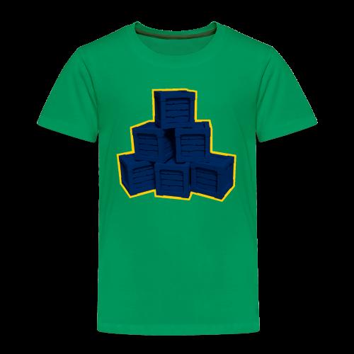 Blue Box LowPoly - Toddler Premium T-Shirt