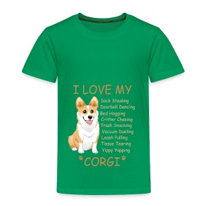 I Love My Corgi - Toddler Premium T-Shirt