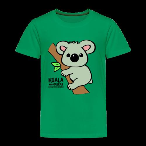 Koala Cute. Art by Paul Bass, assisted by Mollie. - Toddler Premium T-Shirt