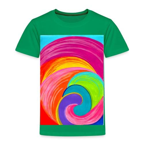Colorful rainbow swirl - Toddler Premium T-Shirt