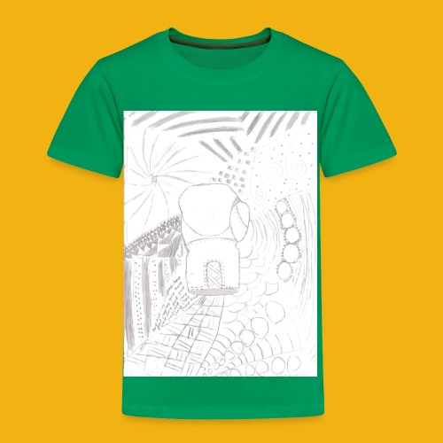 Messy Zentangle Boxing glove (TCOU) - Toddler Premium T-Shirt