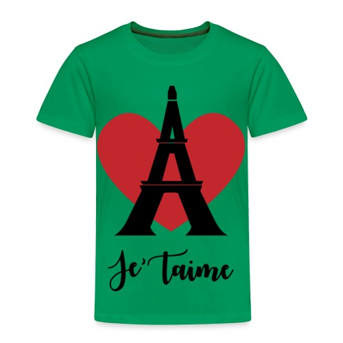 Je'taime Paris - Toddler Premium T-Shirt
