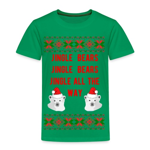 Jingle Bear (Red Text) - Toddler Premium T-Shirt