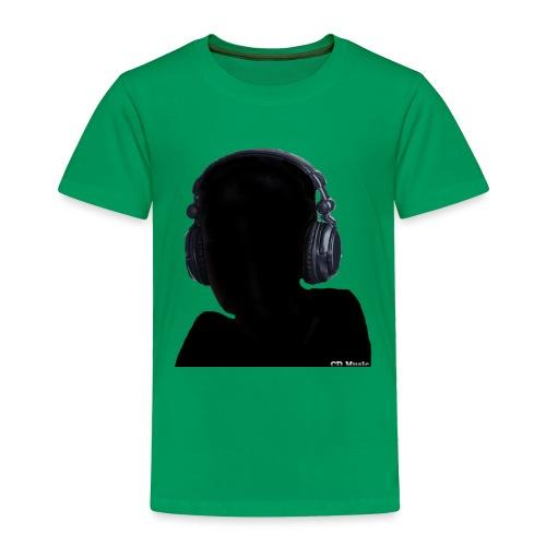 CD Music silhouette with headphones - Toddler Premium T-Shirt