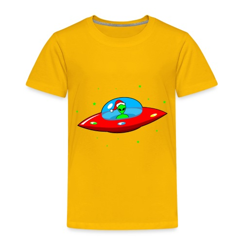 UFO Alien Santa Claus - Toddler Premium T-Shirt