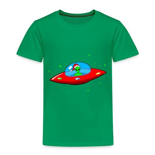 UFO Alien Santa Claus - Toddler Premium T-Shirt