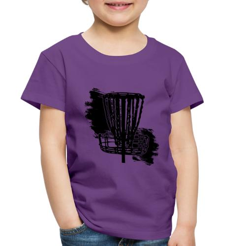 Disc Golf Basket Paint Black Print - Toddler Premium T-Shirt