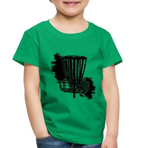 Disc Golf Basket Paint Black Print - Toddler Premium T-Shirt