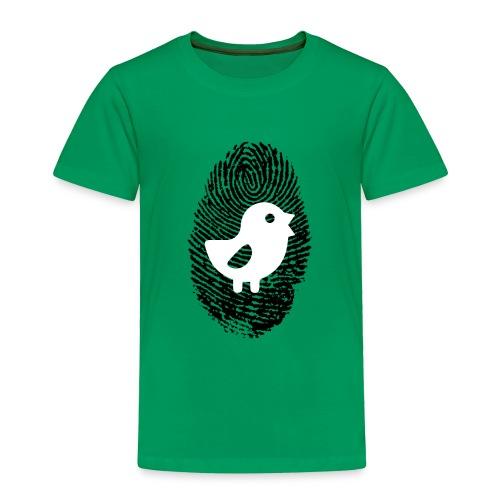 Chick Finger Print - Toddler Premium T-Shirt