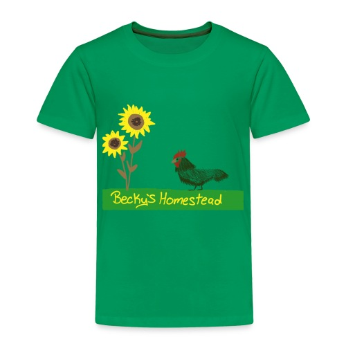 Chicken and Sunflowers - Toddler Premium T-Shirt