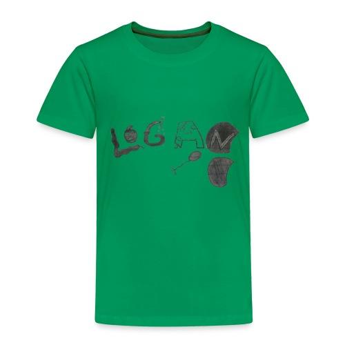 Hand Drawn Halloween Themed Logo - Toddler Premium T-Shirt