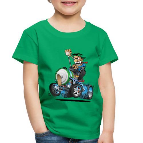 Hot Rod Electric Car Cartoon - Toddler Premium T-Shirt
