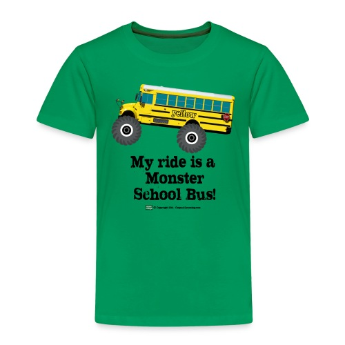 Monster Schoolbus Spreadshirt 3 png - Toddler Premium T-Shirt