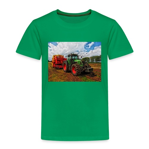 Tractor on a farm! - Toddler Premium T-Shirt
