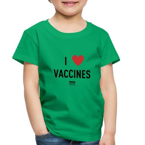 I heart vaccines black Immunize Colorado Logo - Toddler Premium T-Shirt