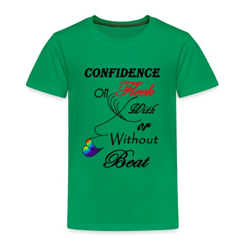 With or Without Beat SpilledPaint- Asphalt - Toddler Premium T-Shirt