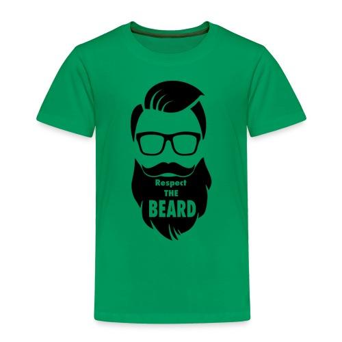 Respect the beard 08 - Toddler Premium T-Shirt
