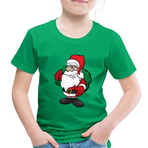 Santa Claus Cartoon Illustration - Toddler Premium T-Shirt