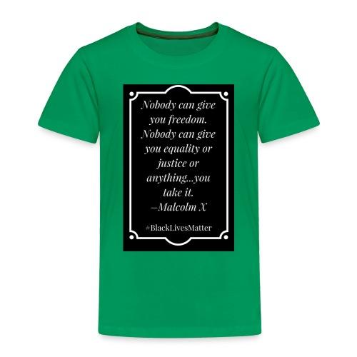 Black Lives Matter Malcolm X - Toddler Premium T-Shirt
