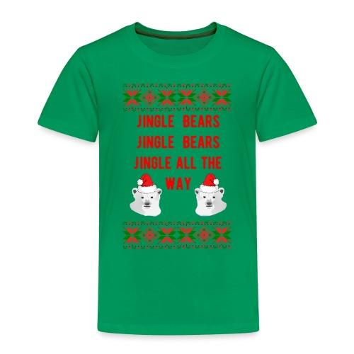 Jingle Bear (Red Text) - Toddler Premium T-Shirt