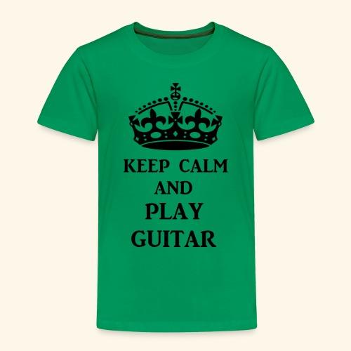 keep calm play guitar blk - Toddler Premium T-Shirt