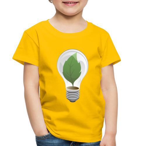 Clean Energy Green Leaf Illustration - Toddler Premium T-Shirt