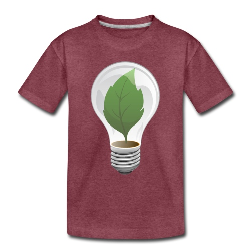 Clean Energy Green Leaf Illustration - Toddler Premium T-Shirt