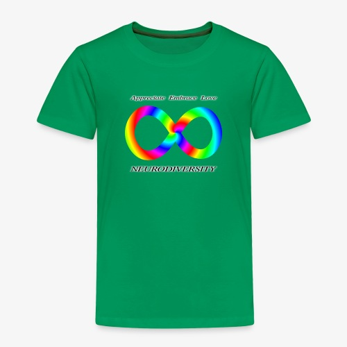 Embrace Neurodiversity with Swirl Rainbow - Toddler Premium T-Shirt