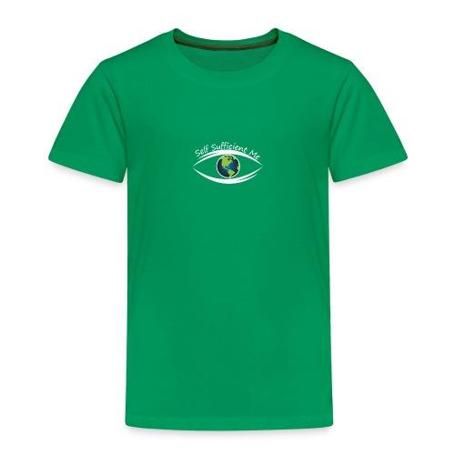 Self Sufficient Me Logo white small coy design - Toddler Premium T-Shirt