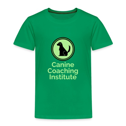 Canine Coaching Institute Logo with Light Green - Toddler Premium T-Shirt