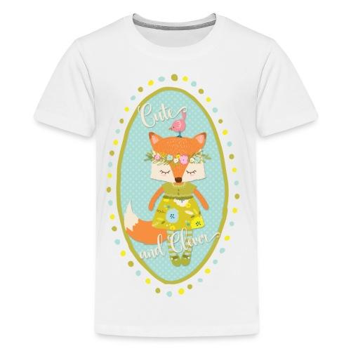 Cute and Clever Fox - Kids' Premium T-Shirt