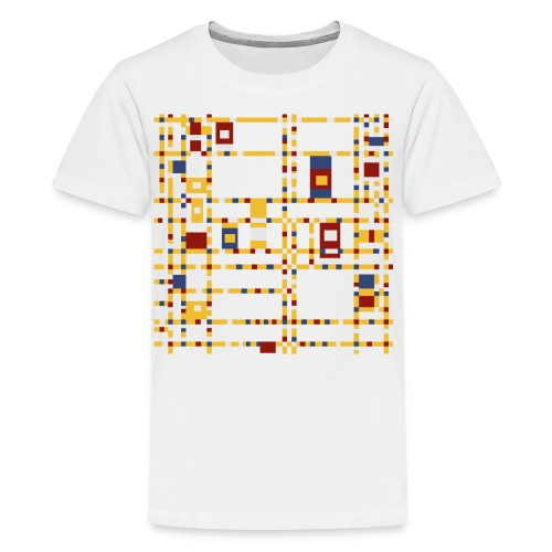Broadway Boogie-Woogie by Piet Mondrian - Kids' Premium T-Shirt