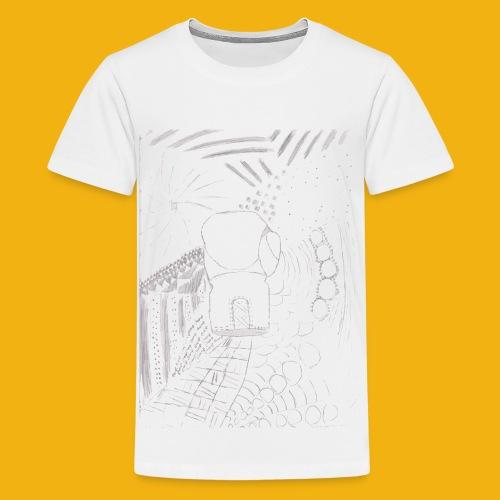 Messy Zentangle Boxing glove (TCOU) - Kids' Premium T-Shirt