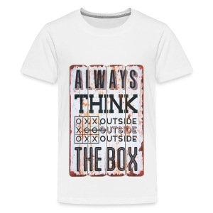 Always think outside the box - Kids' Premium T-Shirt