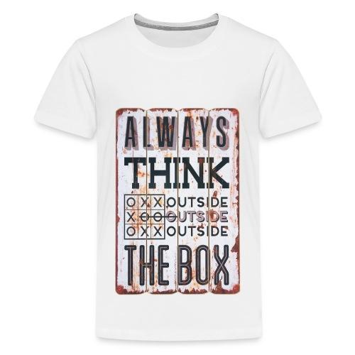 Always think outside the box - Kids' Premium T-Shirt