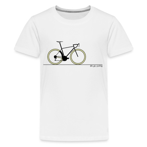 Go Cycling (blk) - Kids' Premium T-Shirt